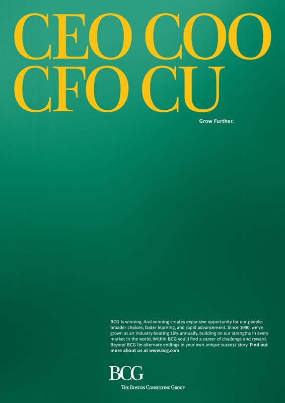CEO COO DVO CU. BCG. Grow further.